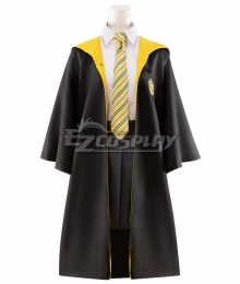 Harry Potter Female Hufflepuff Robe School Uniform Halloween Cosplay Costume