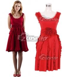 Harry Potter Hermione Jane Granger Hermione Jean Granger Red Dress Cosplay Costume
