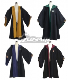 Harry Potter Hogwarts Coat Uniform Gryffindor Hufflepuff Ravenclaw Slytherin Cosplay Costume