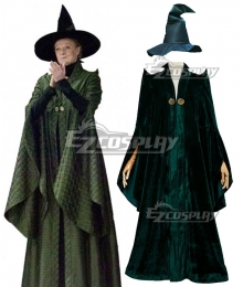 Harry Potter Professor Minerva McGonagall Cosplay Costume