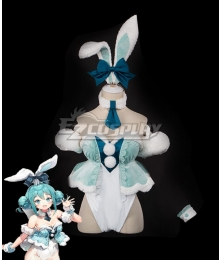 Vocaloid Hatsune Miku White Bunny Girl White Rabbit Cosplay Costume