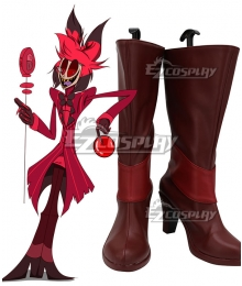 Hazbin Hotel Alastor Red Shoes Cosplay Boots