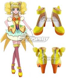 Healin' Good Pretty Cure Hinata Hiramitsu Golden Cosplay Shoes