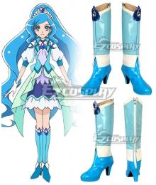 Healin' Good Pretty Cure Sawaizumi Chiyu Cure Fontaine Blue Shoes Cosplay Boots