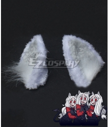 Helltaker Cerberus White Ears Cosplay Accessory Prop