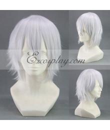 Hiiro no Kakera Yuuichi Komura White Cosplay Wig-299AB