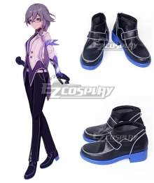 Houkai 3rd Fu Hua Black Blue Cosplay Shoes