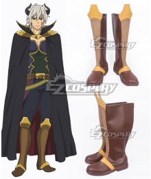 How NOT to Summon a Demon Lord Isekai Maou to Shoukan Shoujo Dorei Majutsu Takuma Sakamoto Diablo Brown Shoes Cosplay Boots