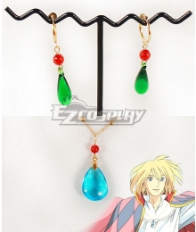 Howl's Moving Castle Howl Ear Clips Ear Studs And Necklace Cosplay Accessory Prop
