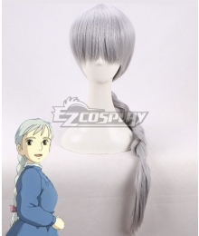 Howl's Moving Castle Sophie Hatter Silver grey Cosplay Wig