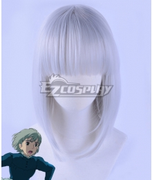 Howl's Moving Castle Sophie Hatter Silver grey Short Hair Cosplay Wig