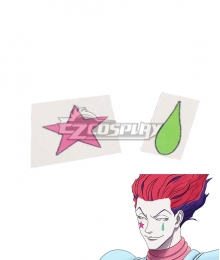 Hunter X Hunter Hisoka Morow Tattoo Sticker Cosplay Accessory Prop