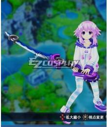 Hyperdimension Neptunia Neptune Blue Sword Cosplay Weapon Prop