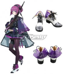 Girls' Frontline M91 38 White Purple Cosplay Shoes