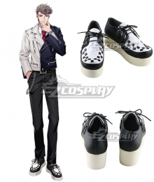 Hypnosis Mic Bad Ass Temple Hitoya Amaguni White Cosplay Shoes