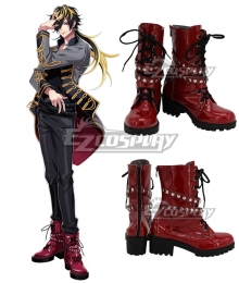 Hypnosis Mic Division Rap Battle Aimono Jushi 14th Moon Red Cosplay Boots