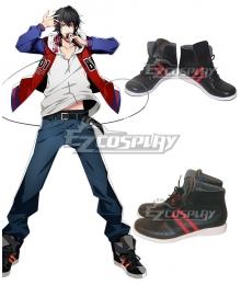 Hypnosis Mic Division Rap Battle Buster Bros Ichiro Yamada MC.B.B Big Brother Black Cosplay Shoes