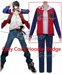 Hypnosis Mic Division Rap Battle Buster Bros Ichiro Yamada MC.B.B Big Brother Cosplay Costume - Only Coat, Hoodie, Badge