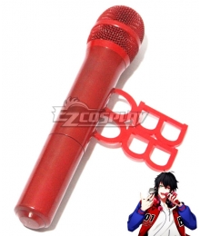 Hypnosis Mic Division Rap Battle Buster Bros Ichiro Yamada MC.B.B Big Brother Red Microphone Cosplay Weapon Prop
