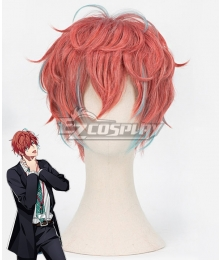 Hypnosis Mic Division Rap Battle Doppo Kannonzaka DOPPO Red Orange Cosplay Wig