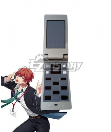 Hypnosis Mic Division Rap Battle Doppo Kannonzaka DOPPO Red Orange Mobiephone Cosplay Weapon Prop