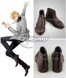 Hypnosis Mic Division Rap Battle Hifumi Izanami GIGOLO Brown Cosplay Shoes