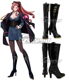 Hypnosis Mic Division Rap Battle Ichijiku Kadenokoji Black Shoes Cosplay Boots