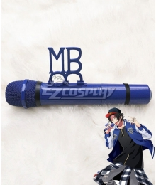 Hypnosis Mic Division Rap Battle Jiro Yamada MC.M.B Middle Brother Blue Microphone Cosplay Weapon Prop