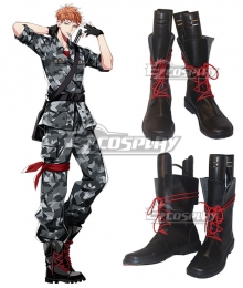 Hypnosis Mic Division Rap Battle Riou Mason Busujima Crazy M Black Shoes Cosplay Boots