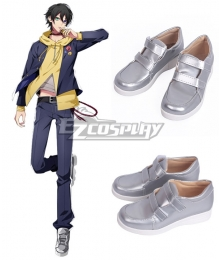 Hypnosis Mic Division Rap Battle Saburo Yamada MC.L.B Silver Cosplay Shoes