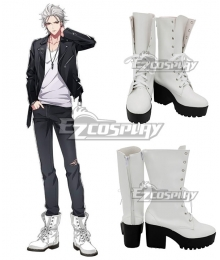Hypnosis Mic Division Rap Battle The Dirty Dawg Samatoki Aohitsugi MC.Hc Hardcore White Shoes Cosplay Boots