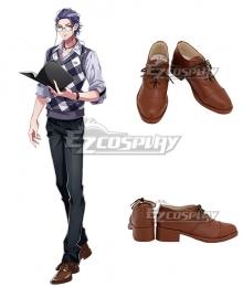 Hypnosis Mic Dotsuitare Hompo Rosho Tsutsujimori WISDOM Brown Cosplay Shoes