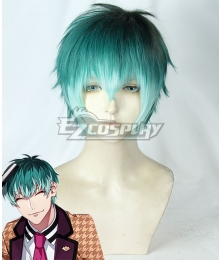 Hypnosis Mic Dotsuitare Hompo Sasara Nurude Tragic Comedy Blue-green Cosplay Wig