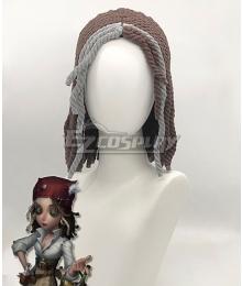 Identity V Barmaid Demi Bourbon Brown Grey Halloween Cosplay Wig