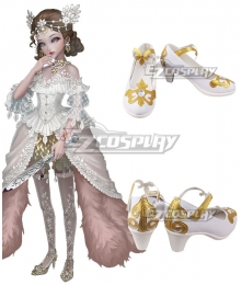 Identity V Bloody Queen Mary Lady Bella White Cosplay Shoes