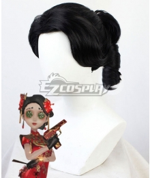 Identity V Coordinator Martha Behamfil Dance in the Snow Halloween Black Cosplay Wig