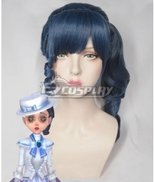 Identity V Coordinator Martha Behamfil Iron Lady Halloween Blue Cosplay Wig