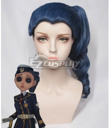 Identity V Coordinator Martha Behamfil Navy Halloween Blue Cosplay Wig