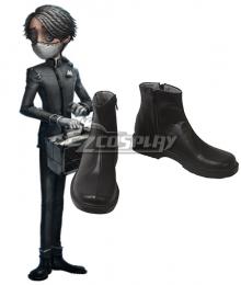 Identity V Embalmer Aesop Carl Halloween Black Cosplay Shoes
