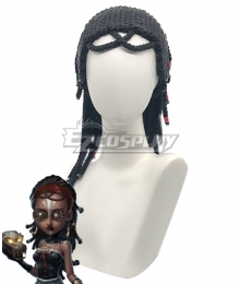 Identity V Enchantress Patricia Dorval Halloween Black Cosplay Wig