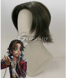 Identity V First Officer Jose Baden Black Halloween Cosplay Wig