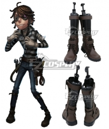 Identity V Prisoner Luca Balsa Halloween Black Shoes Cosplay Boots