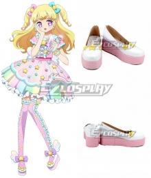 Idol time Pripara Yui Yumekawa White Pink Cosplay Shoes