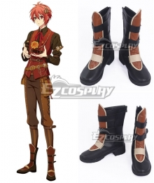 Idolish 7 Riku Nanase Black Brown Cosplay Shoes
