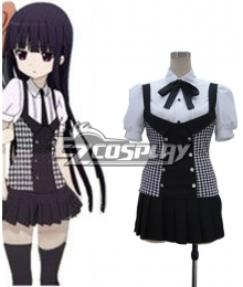 Inu x Boku SS Ririchiyo Shirakiin Plaid Skirt Cosplay Costume