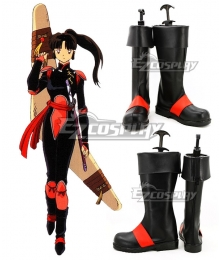 Inuyasha Sango Black Shoes Cosplay Boots