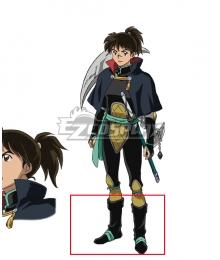 Inuyasha Yashahime : Princess Half-Demon Kohaku Black Shoes Cosplay Boots