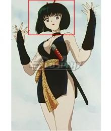 InuYasha Yura Sakasagami Black Cosplay Wig
