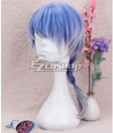 Japan Harajuku Lolita Series Blue White Braid Cosplay Wig-Only Wig