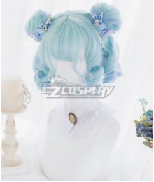 Japan Harajuku Lolita Series Cloud Jellyfish Blue Cosplay Wig